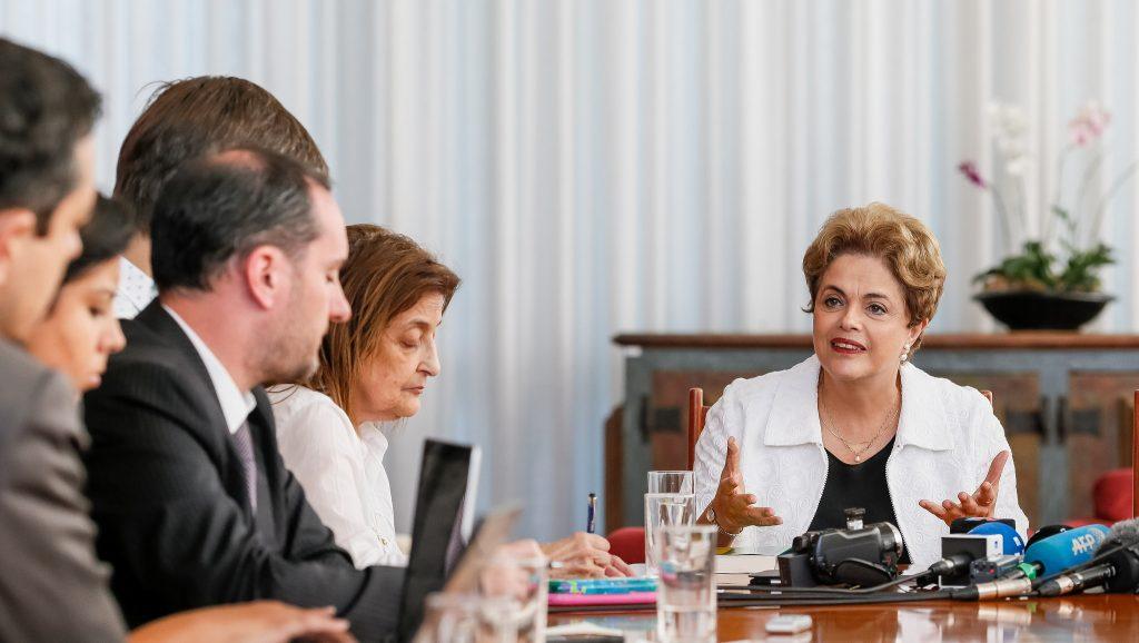 Entrevista a veículos estrangeiros. Foto: Roberto Stuckert Filho/PR