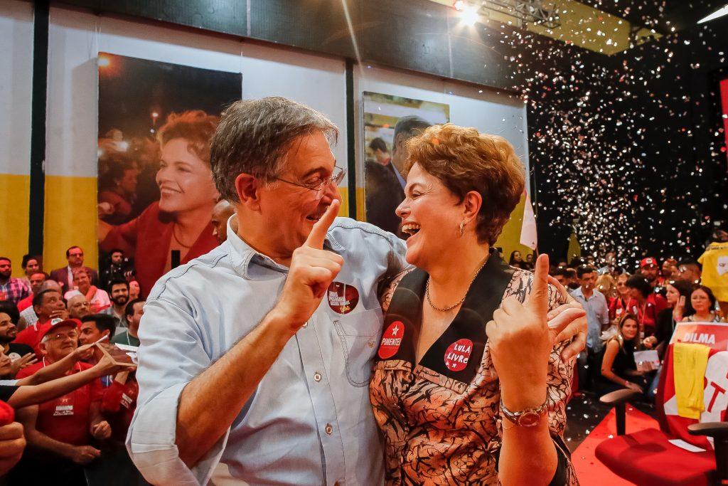 Em convenção do PT em Minas, Pimentel e Dilma são confirmados candidatos ao governo e ao Senado. (Foto: Roberto Stuckert Filho)